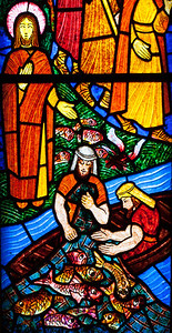Muids, Saint-Hilaire Church, The Miracle of the Fishes