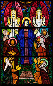 Pacy-sur-Eure , Saint-Albin, The Ascension Window, The Virgin Ascending