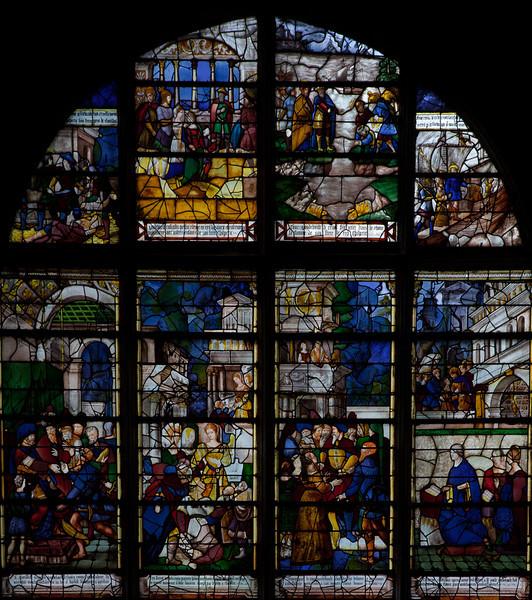 Les Andelys,  Notre-Dame Collegiale,  Clotilde and Clovis Window