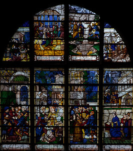 Les Andelys,  Notre-Dame Collegiale,  Clotilde and Clovis Window