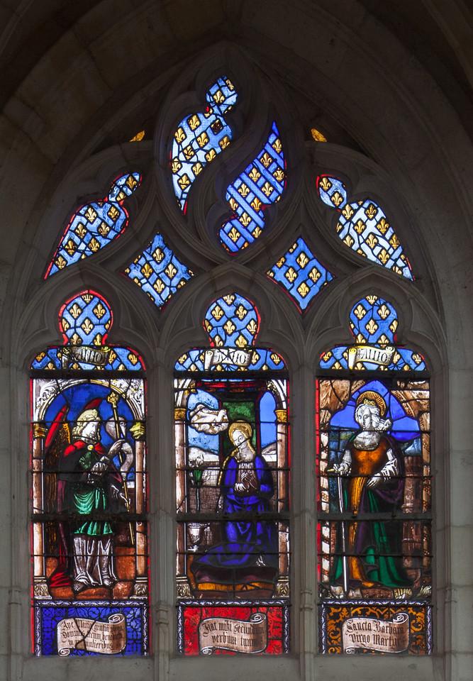 Saint-Nicolas-du-Port, The Annunciation with Saint Barbara