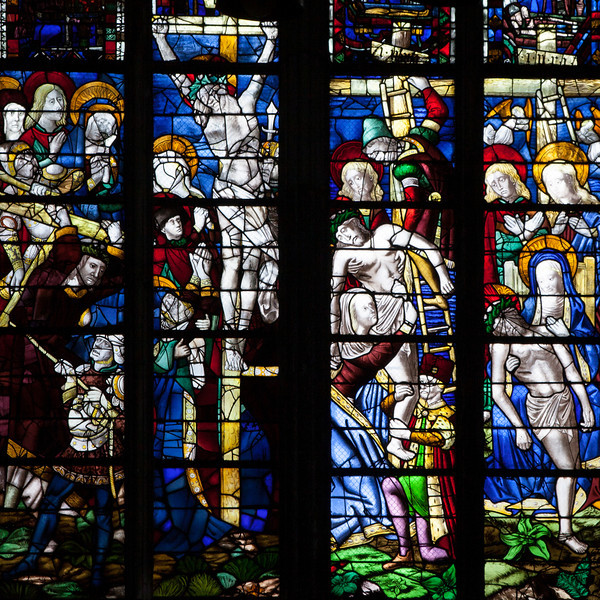 Rouen Cathedral, The Crucifixion, Descent from the Cross and The Lamentation