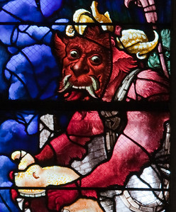 Beauvais, Church of Saint-Etienne - Devil of the Last Judgement Window