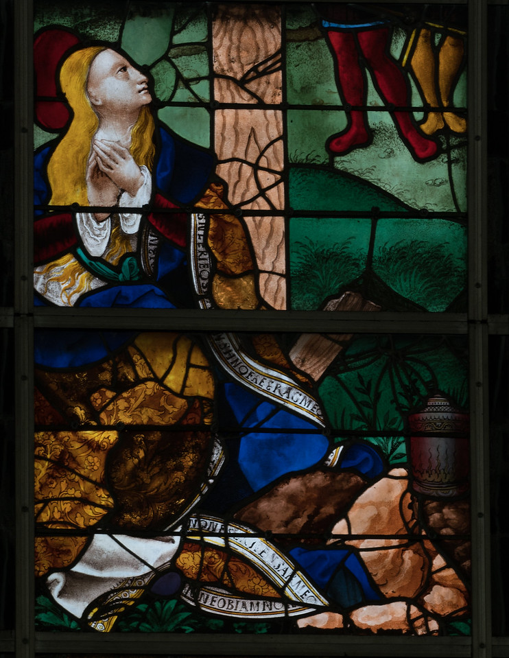 Rouen, Jeanne d'Arc Church - Mary Magdalen at the Crucifixion