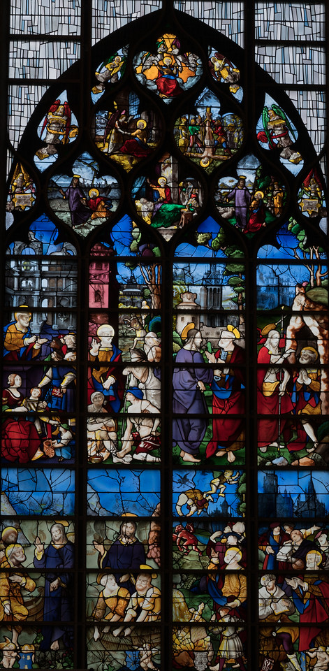 Rouen, Jeanne d'Arc Church - The Saint Peter Window (1520-30)