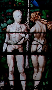 Rouen, Saint-Patrice Church, The Triumph of Faith Window, Adam and Eve