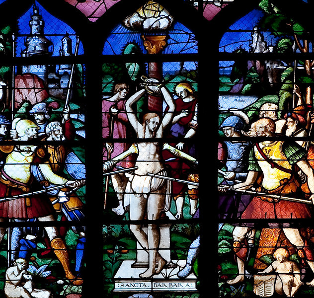 Rouen, Saint-Patrice Church, The Martyrdom of Saint Barbara