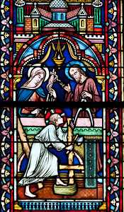 Semur-en-Auxois Collegiale, Holy Family in the Carpenter's Workshop