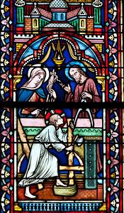 Semur-en-Auxois Collegiale, Holy Family in the Carpenter's Workshop