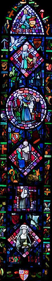 Semur-en-Auxois - Collegiale - Jeanne Chantal Window ((20C)-1-2