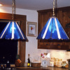 The Joyce's hanging lamps.