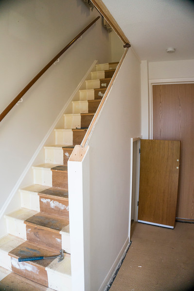 Strip out of existing stair parts