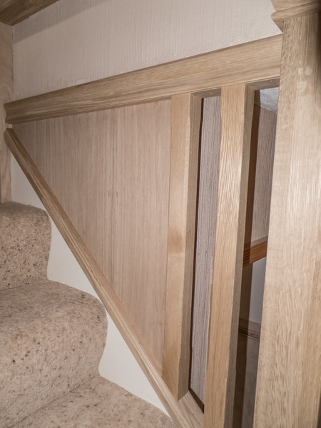 Completed stair section