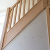 Completed stair parts in Oak and new understair door and facing in Oak.