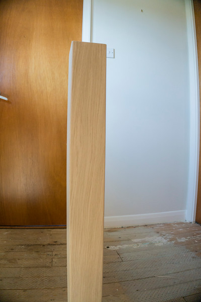 Finished Veneered newel