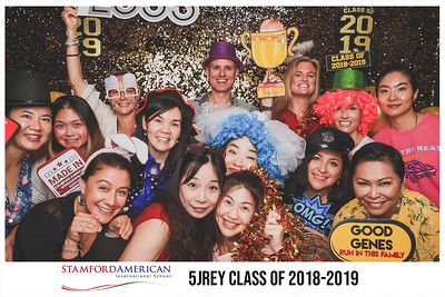 Stamford American International School - 5JREY Class of 2018-2019 | © SRSLYPhotobooth.sg
