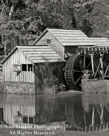 Marby Mill in B&W