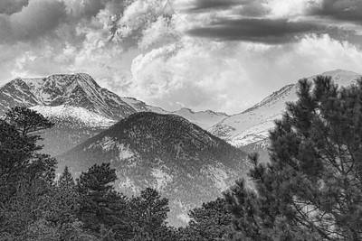Rocky Mountains in B&W