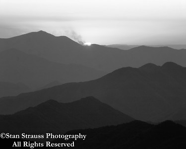 Blue Ridge Mountains in B&W