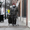 Joe Payne, 73, of Leominster was out running errands on Main Street in Leomisnter on Monday, March 30, 2020. He was being safe by wearing a mask. SENTINEL & ENTERPRISE/JOHN LOVE