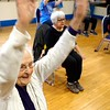 BEN GARVER – THE BERKSHIRE EAGLE<br /> Ethel Connors, 99, excercises at the YMCA Silver Sneakers class taught by Mary Ellen Zeleny.  There is a Silver Sneakers Class every weekday morning just after 9 am.