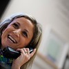 BEN GARVER — THE BERKSHIRE EAGLE<br /> Richmond Consolidated School nurse, Cristina Lenfest makes the first of many calls to parents throughout the day, Tuesday February 6, 2019. 10:54