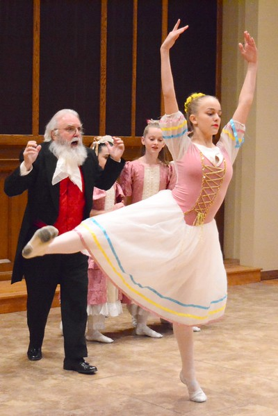 GILLIAN JONES — THE BERKSHIRE EAGLE<br /> Dancers perform an excerpt from the Nutcracker during a tea party event to benefit the Albany Berkshire Ballet Nutcracker 2017 tour. The event was held in the newly renovated Common Room at Zion Lutheran Church on First Street in Pittsfield on Sunday, November 12, 2017.