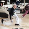 BEN GARVER — THE BERKSHIRE EAGLE<br /> Don Jamrooss and Lil Charland take turns on league night at Imperial Lanes in Pittsfield, Thursday, April 5, 2018.