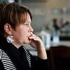 BEN GARVER — THE BERKSHIRE EAGLE<br /> Breakfast with City of Pittsfield Office of Cultural Development Director Jen Glockner at Dottie's Coffee Lounge in Pittsfield. GLockner had a Latte and breakfast bowl.