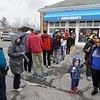 BEN GARVER — THE BERKSHIRE EAGLE<br /> The line at Ben and Jerry's on South Street grew as the day progressed.