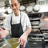 BEN GARVER — THE BERKSHIRE EAGLE<br /> Chef Tom McCardle prepares tiramisu at Mario's in New Lebanon, New York, Wednesday, February 28, 2018.