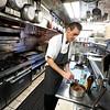 BEN GARVER — THE BERKSHIRE EAGLE<br /> Chef Tom McCardle prepares tiramisu at Mario's in New Lebanonn, New York, Wednesday, February 28, 2018.