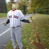 Red Sox scarecrow