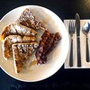 BEN GARVER — THE BERKSHIRE EAGLE<br /> French toast from from Otto's Breakfast and Deli on East Street near Park Square in Pittsfield. Milk, eggs and bread, all you need to get through a New England Storm.