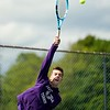 BEN GARVER — THE BERKSHIRE EAGLE<br /> Adam Quinto of Pittsfield plays in a Division I Tournament against Chicopee at Herberg Middle School in Pittsfield, Monday, June 3, 2019.