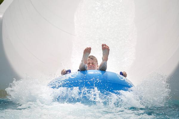 Waterslide fun at Bousquet Mountain-063017