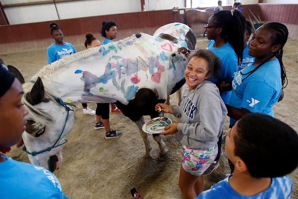 YMCA Marilyn Hamilton Literacy-Sports Prgm at Berkshire Horseworks-081016
