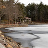 The warm weather has keep the ice from freezing fully at Coggshall Park in Fitchburg. SENTINEL & ENTERPRISE/JOHN LOVE