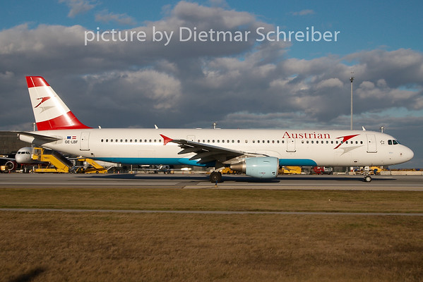2009-12-28 OE-LBF Airbus A321 Austrian AIrlines