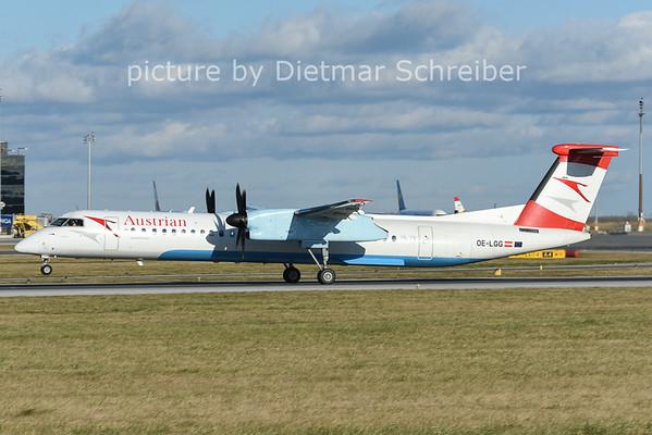 2014-12-26 OE-LGG Dash8-400 AUstrian AIrlines
