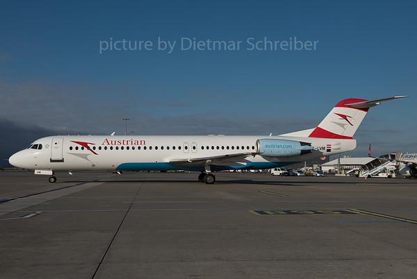 2015-12-30 OE-LVM Fokker 100 Austrian Airlines