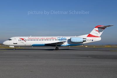 2017-12-25 OE-LVE Fokker 100 Austrian Airlines