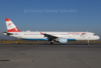 2017-12-25 OE-LBF Airbus A321 Austrian Airlines