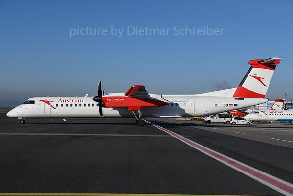 2017-12-25 OE-LGD Dash 8-400 Austrian Airlines