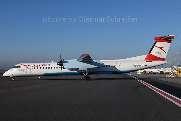 2017-12-25 OE-LGF Dash 8-400 Austrian Airlines