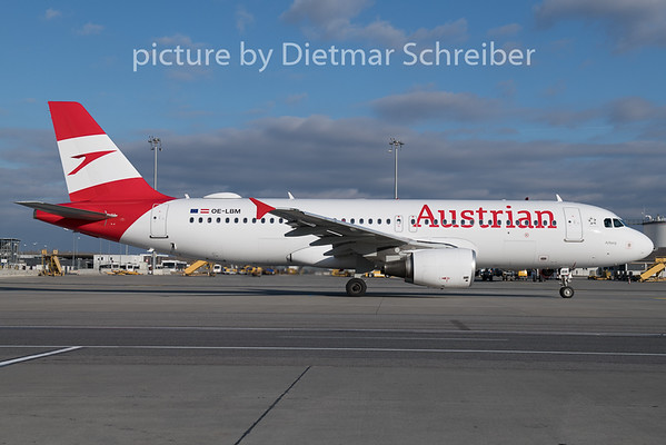 2018-12-26 OE-LBM Airbus A320 Austrian Airlines