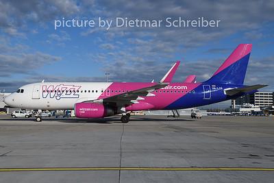 2018-12-28 HA-LYS Airbus A320 Wizair