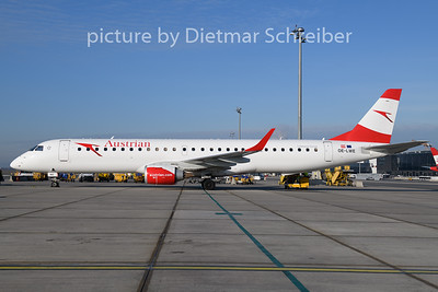 2019-12-30 OE-LWE Embraer 195 Austrian Airlines