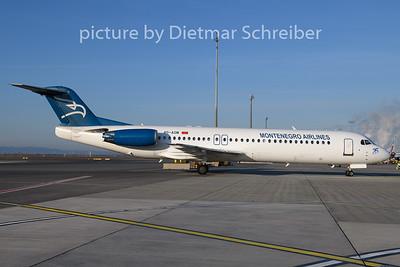 2019-12-30 4O-AOM Fokker 100 Montenegro AIrlines