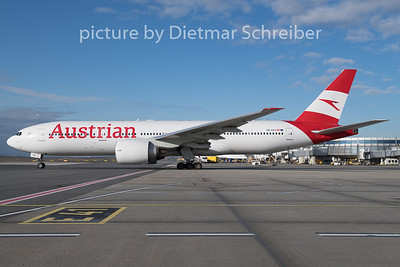 2019-12-27 OE-LPA Boeing 777-200 Austrian Airlines